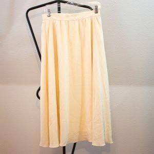 Vintage Silk Omanti Pastel Full Midi Skirt